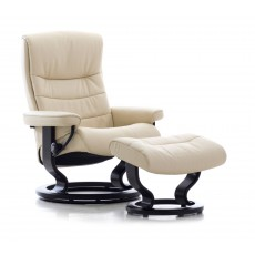 Stressless Nordic Classic Base Medium Recliner Chair With Leg Comfort Battery