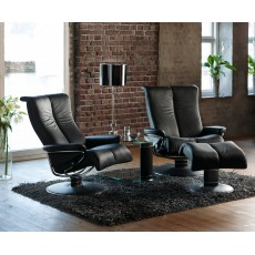 Stressless Blues Medium Jazz Base Chair With Footstool