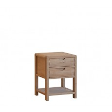 Ercol Bosco Bedroom Two Drawer Bedside Cabinet