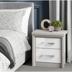 Kingstown Cosmos 2 Drawer Bedside Table