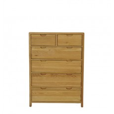 Ercol Bosco Bedroom Six Drawer Tall Wide Chest