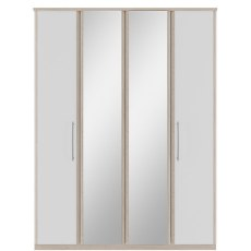 Kingstown Azure Mirror Bi-fold Wardrobes