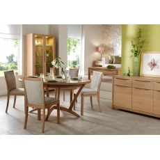 Winsor Stockholm Round Extending Dining Table