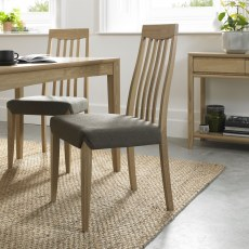 Bentley Bergen Oak Slat Back Chair