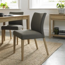 Bentley Bergen Oak Upholstered Chair (Pair)