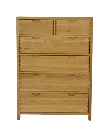 Ercol Ercol Bosco Bedroom Six Drawer Tall Wide Chest