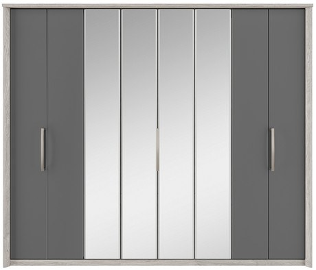 Kingstown Kingstown Cosmos 8 Door Centre Mirror Bi-fold Wardrobe